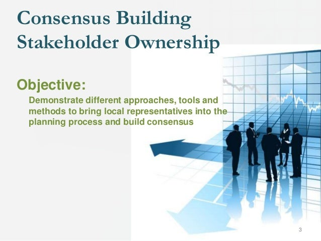 Objective: Demonstrate different approaches, tools and methods to bring local representatives into the planning process an...
