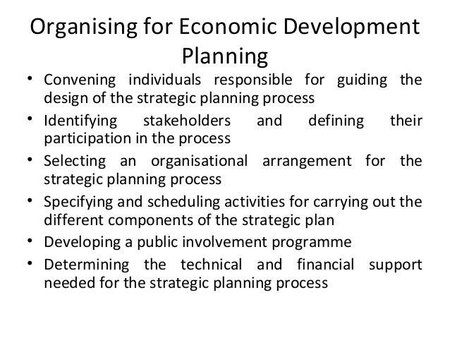 Strategic Planning For Economic Development