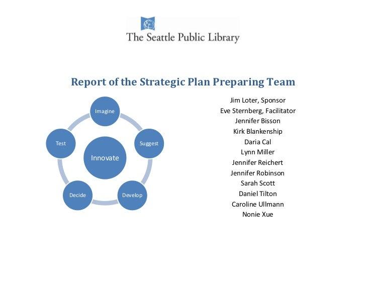 Report of the Strategic Plan Preparing Team                                              Jim Loter, Sponsor               ...