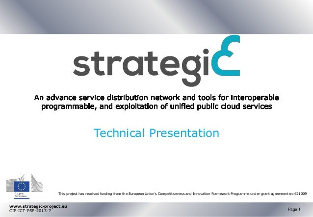 www.strategic-project.eu CIP-ICT-PSP-2013-7 Page 1 This project has received funding from the European Union's Competitive...