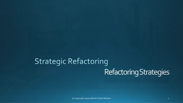 "Definition (Martin Fowler) ""Refactoring is a disciplined technique for restructuring an existing body of code, altering it..."