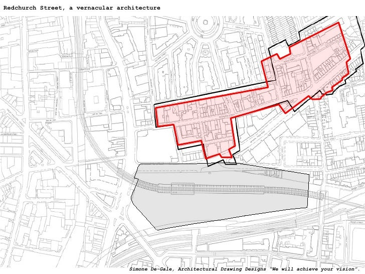 """Redchurch Street, a vernacular architecture Simone De-Gale, Architectural Drawing Designs """"We will achieve your vision""""."""