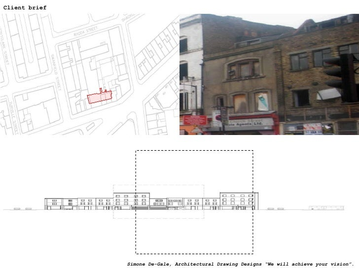 """Client brief Simone De-Gale, Architectural Drawing Designs """"We will achieve your vision""""."""