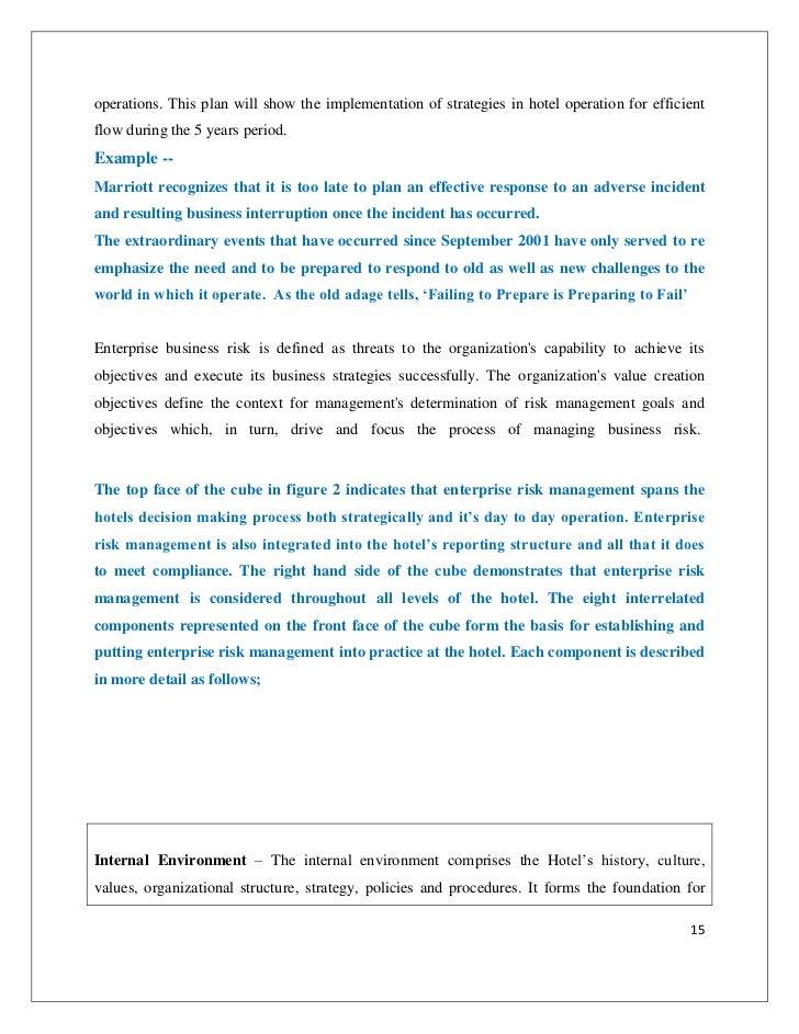 Strategic risk management – Risk Management Plan Example for Business
