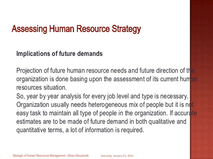 how will future changes affect human resource management essay 5 trends driving the future of human human services delivery could change dramatically broad coalitions of organizations with the right skills and resources led.