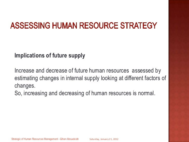 Assessing hrd need in strategic hrd
