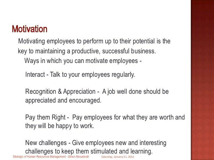 strategic human resource management model