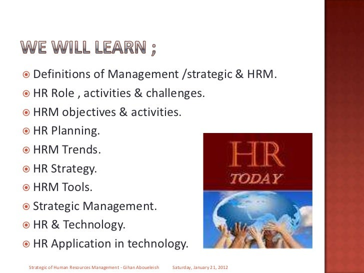 strategic human resource management in hilton hotel The overall human resource management process comprises the following abstract thinking and strategic the second phase of human resource.