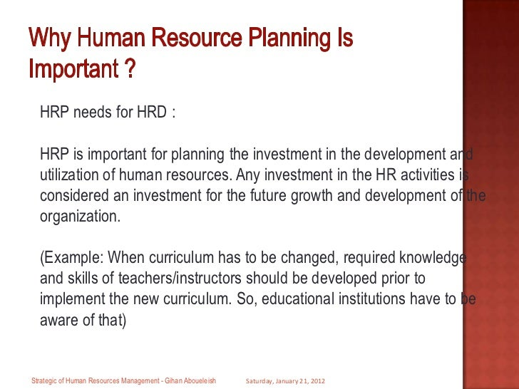 the strategic role of human resources The changing role of human resources management 32 human resources outsourcing 35 strategic human resources management and human resources.