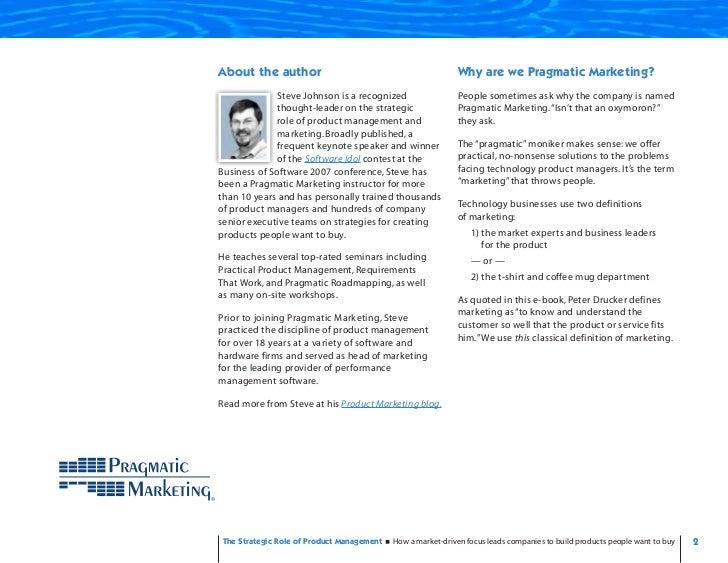 Strategic Role - Product Management Slide 2