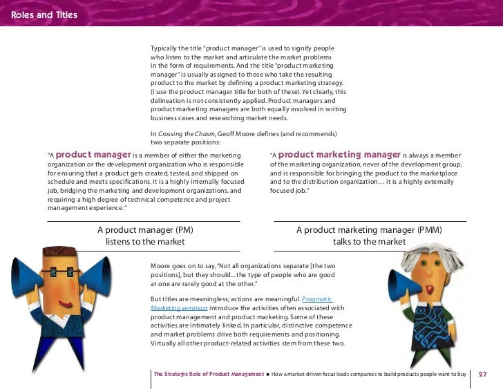 """Roles and Titles                                              Typically the title """"product manager"""" is used to signify peo..."""