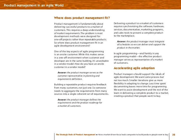 Product Management in an Agile World                                 Where does product management fit?                   ...