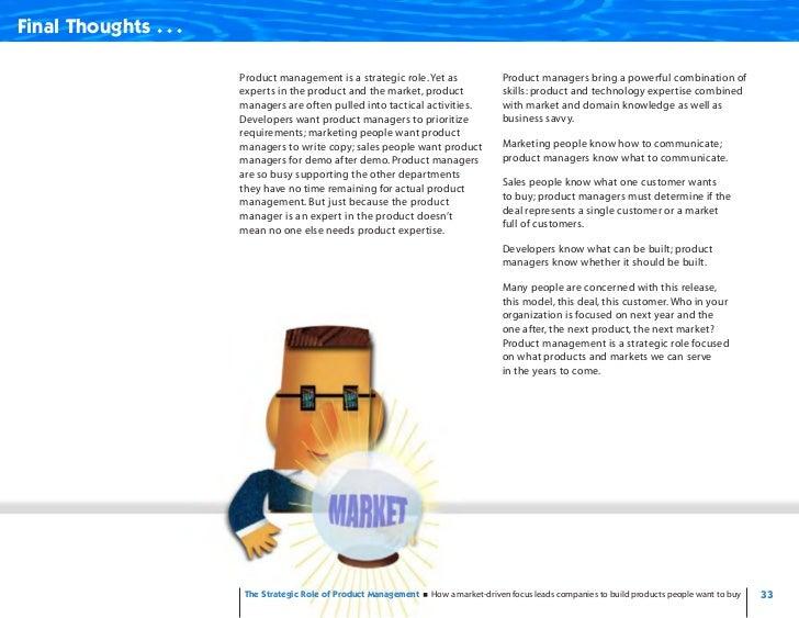 Strategic Role - Product Management