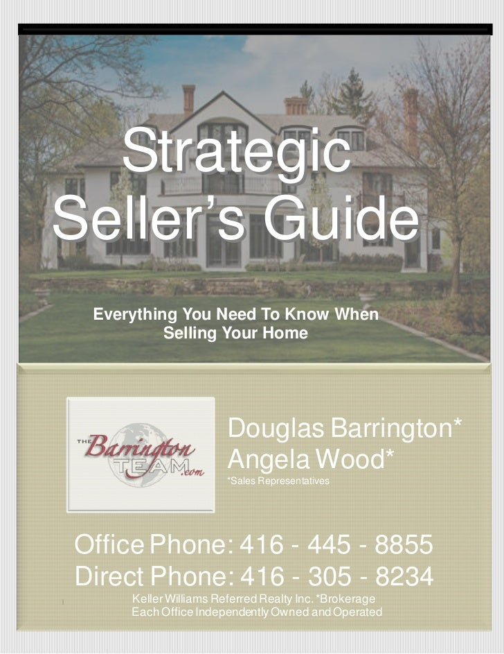 StrategicSeller's Guide     Everything You Need To Know When              Selling Your Home                          Dougl...