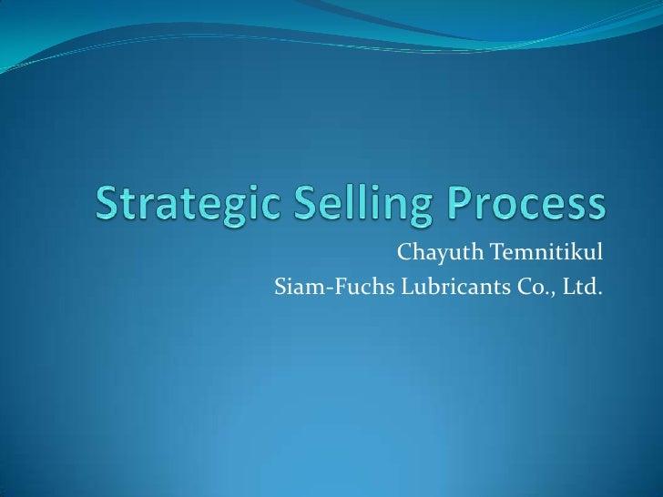 Chayuth Temnitikul Siam-Fuchs Lubricants Co., Ltd.