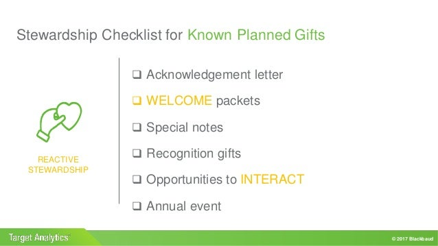 everyday stewardship checklist 39 - Sample Planned Giving Letters