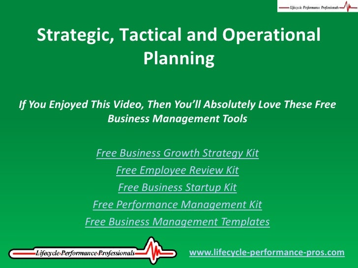 Difference Between Strategic & Operational Objectives