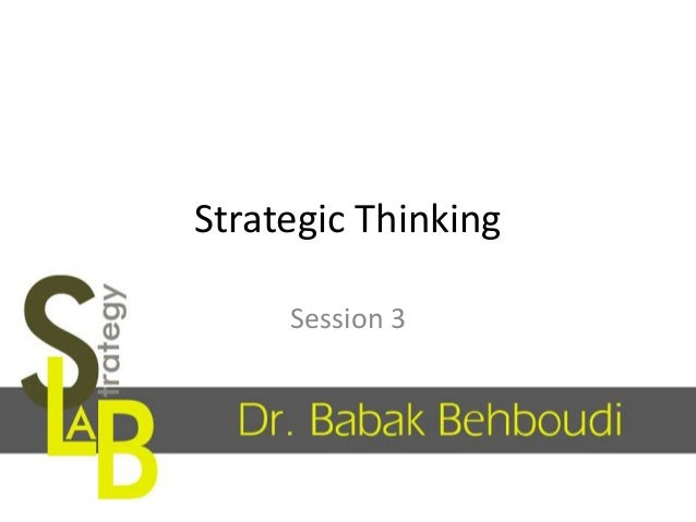 Strategic Thinking Session 3