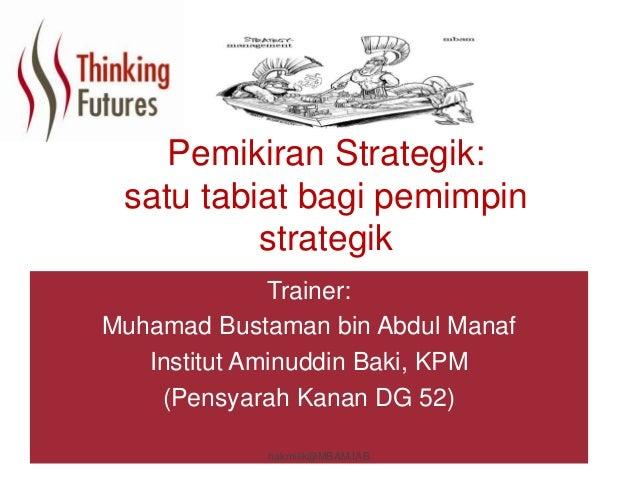 Strategic thinking  Slide 2