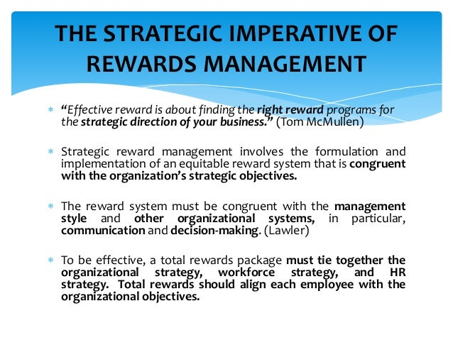 Strategic Total Rewards Management Remuneration And Rewards Summit