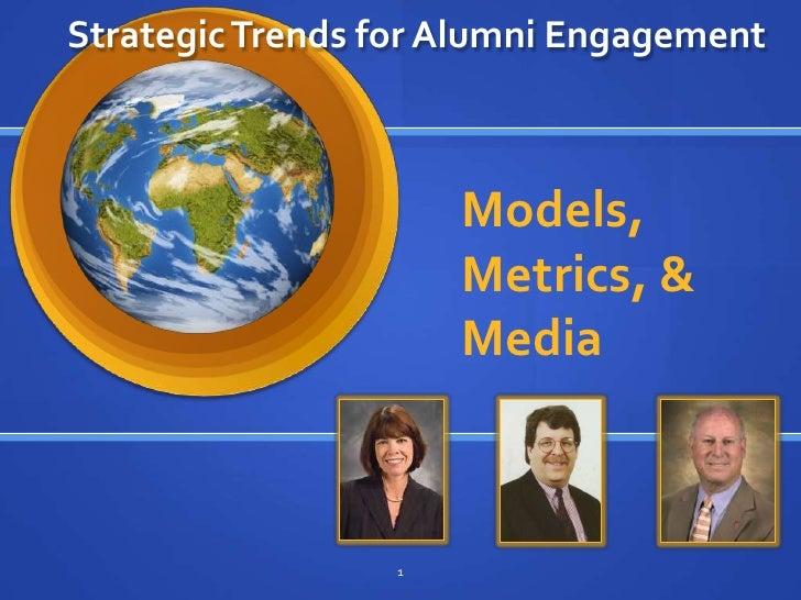 Strategic Trends for Alumni Engagement<br />Models, Metrics, & Media<br />1<br />