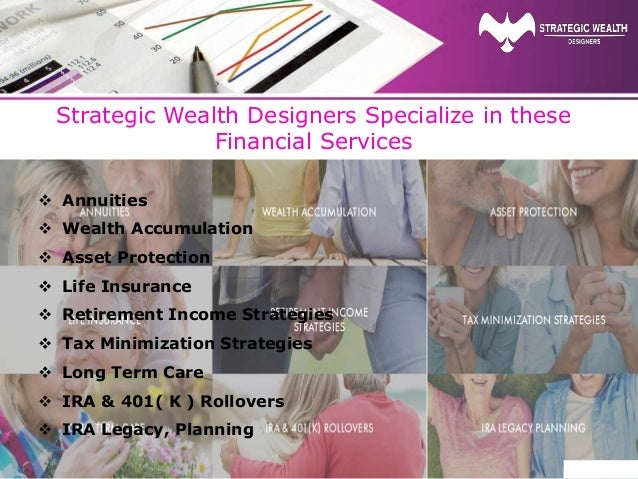 Strategic Wealth Designers Specialize in these Financial Services  Annuities  Wealth Accumulation  Asset Protection  L...
