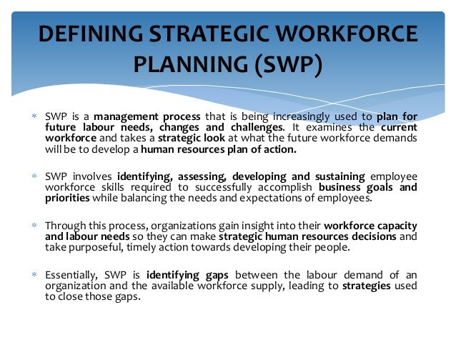 Strategic Workforce Planning 28 November 2013