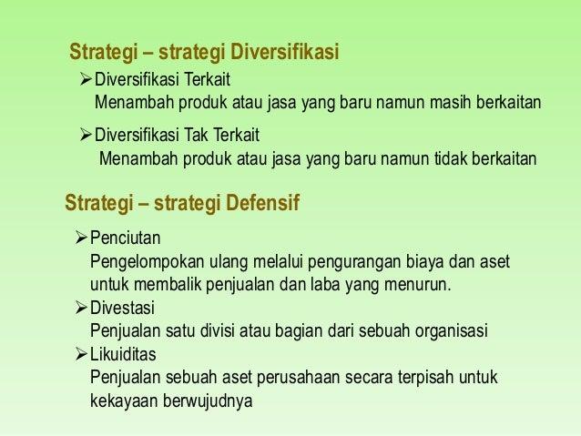 apa strategi diversifikasi diversifikasi terkait