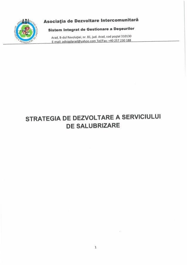 Documentatie de atribuiere a contractului de delagare a gestiunii serviciul de salubrizare