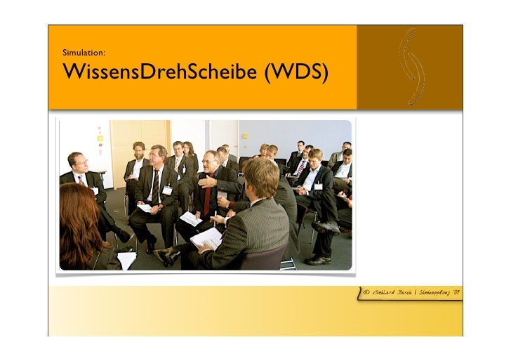 Simulation:  WissensDrehScheibe (WDS)                                © Gebhard Borck   Sinnkopplung ´09