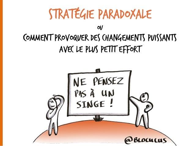 Stratégie paradoxale ou Comment Provoquer des changements puissants Avec le plus petit effort