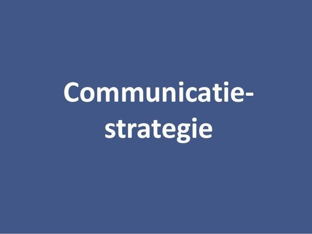 Communicatie- strategie