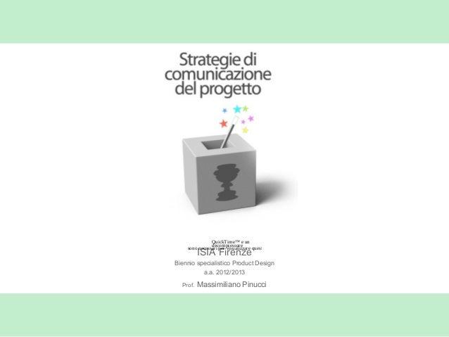 ISIA FirenzeBiennio specialistico Product Designa.a. 2012/2013Prof. Massimiliano PinucciQuickTime™ e undecompressoresono n...