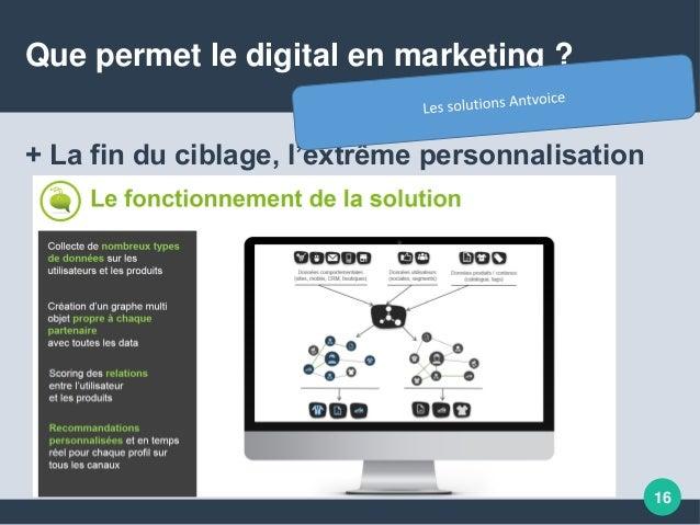 Que permet le digital en marketing ? + La fin du ciblage, l'extrême personnalisation 16