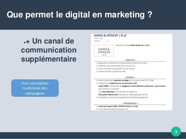 Que permet le digital en marketing ? Slide 3