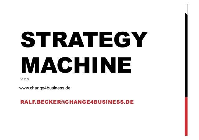 RALF.BECKER@CHANGE4BUSINESS.DESTRATEGYMACHINEV 2.5www.change4business.de