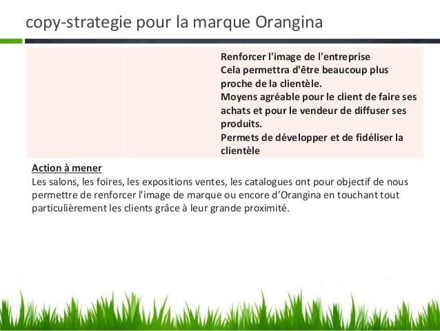 copy-strategie pour la marque Orangina • Le support planning • La campagne sétendra sur douze (12) moisSUPPORTS          L...