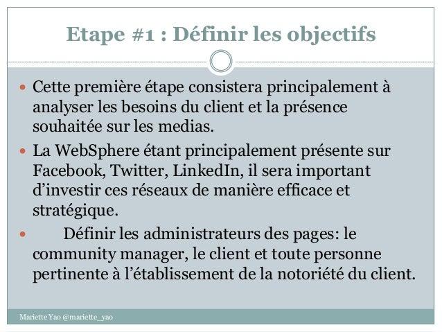 Stratégie média social: les 5 étapes. Slide 2