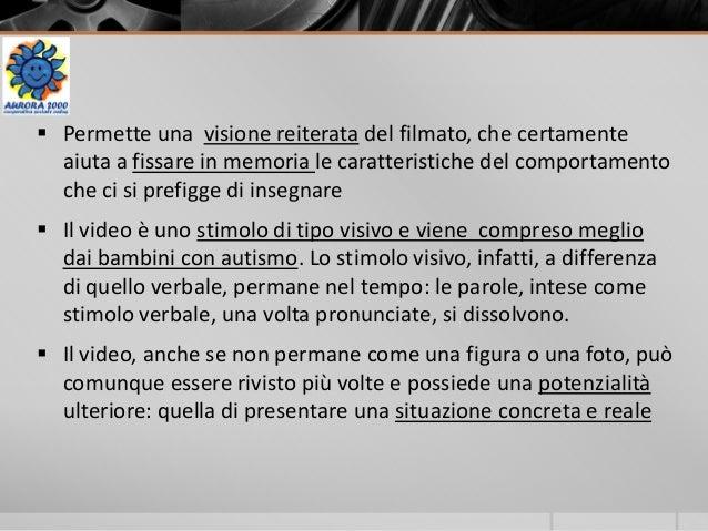  Permette una visione reiterata del filmato, che certamente aiuta a fissare in memoria le caratteristiche del comportamen...