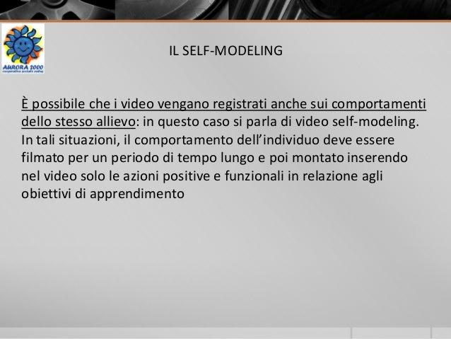 IL SELF-MODELING È possibile che i video vengano registrati anche sui comportamenti dello stesso allievo: in questo caso s...