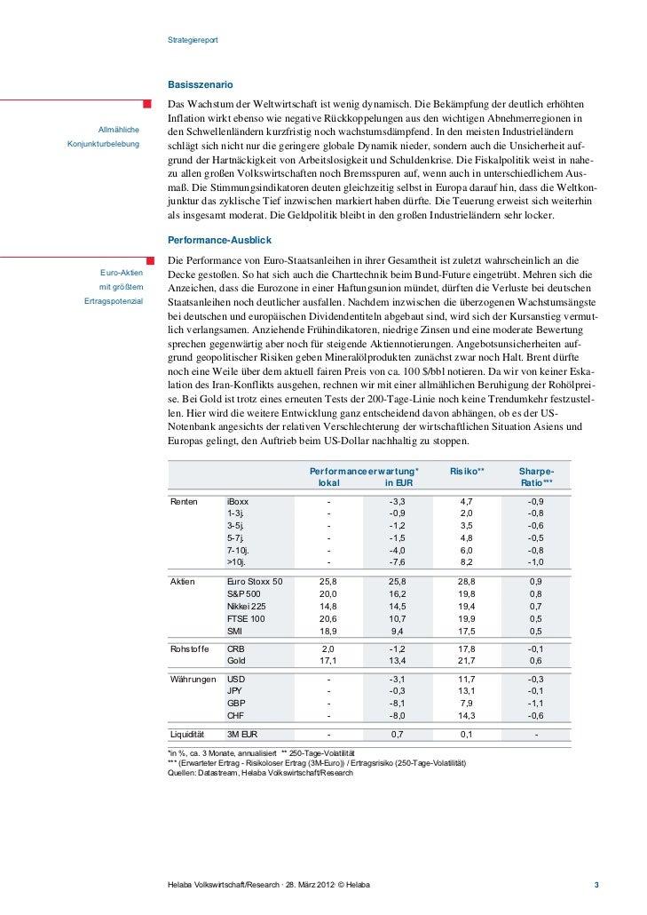 Strategiereport                       Basisszenario                       Das Wachstum der Weltwirtschaft ist wenig dynami...