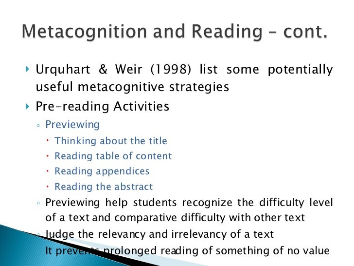 Strategies And Metacognitive Skills 2