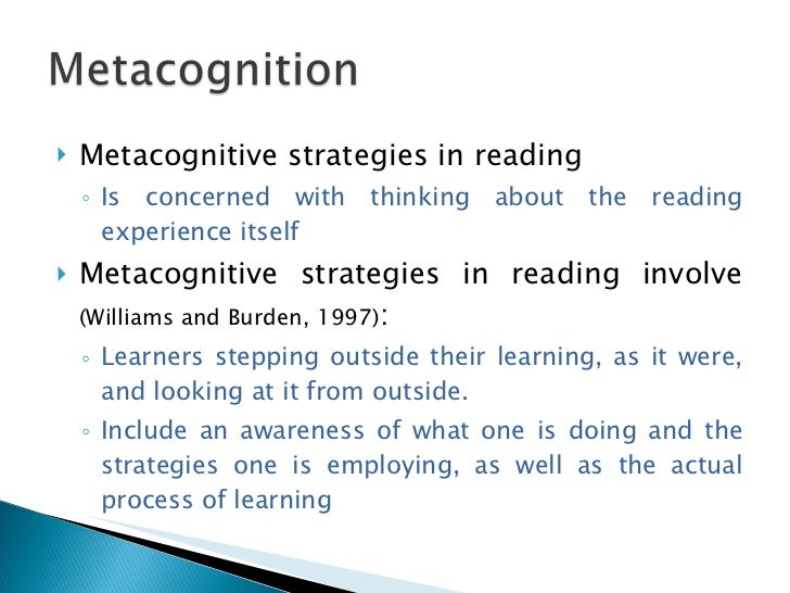 """metacognitive skills An important quality of successful engineers is metacognitive skills (rhem, 2013)  metacognition is simply defined as """"thinking about thinking"""" or """"cognition."""