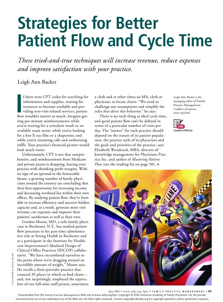 Strategies for Better                                 Patient Flow and Cycle Time                                 These tr...