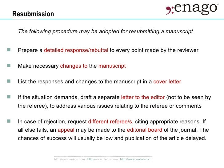 Strategies To Navigate Peer Review – Resubmission Cover Letter