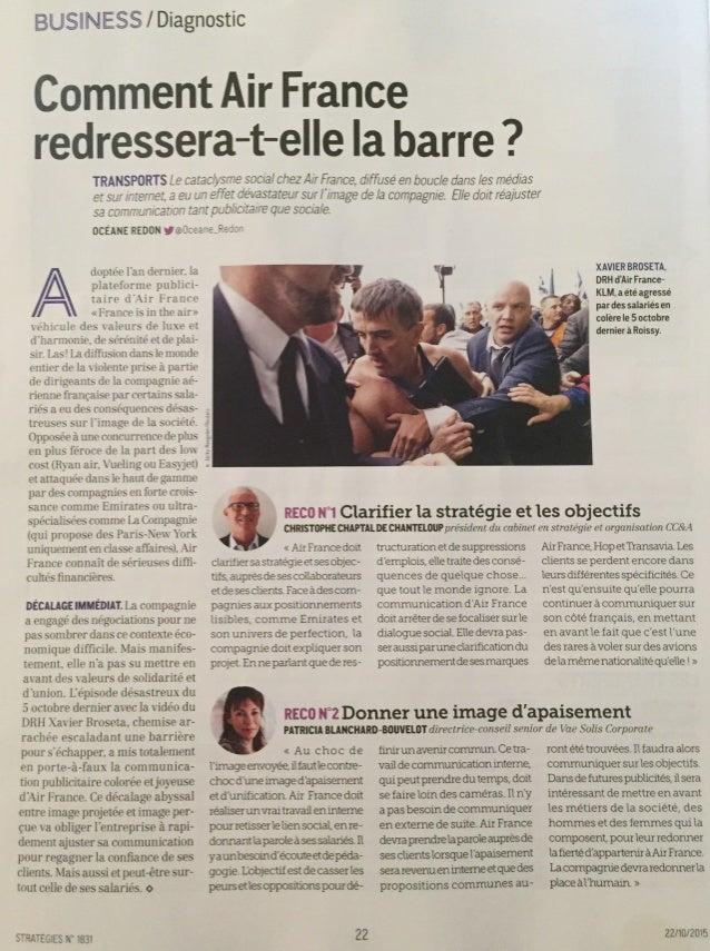Stratégies | Air France | Christophe Chaptal de Chanteloup