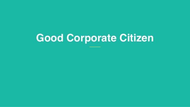 Good Corporate Citizen