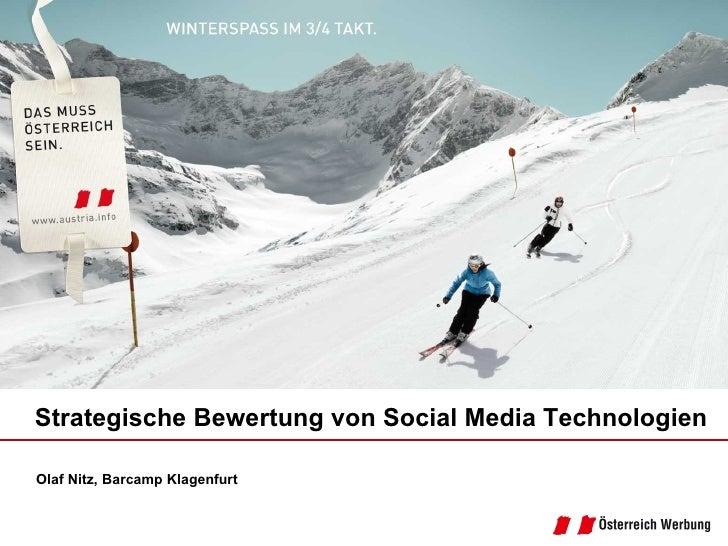 Olaf Nitz, Barcamp Klagenfurt Strategische Bewertung von Social Media Technologien