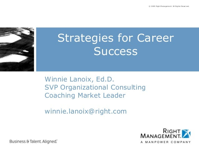 © 2009 Right Management. All Rights Reserved.Winnie Lanoix, Ed.D.SVP Organizational ConsultingCoaching Market Leaderwinnie...