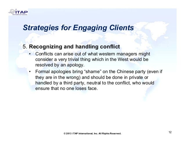 Strategies for Engaging Clients 5. Recognizing and h dli conflict 5 R i i d handling fli t •  •  Conflicts can arise out o...